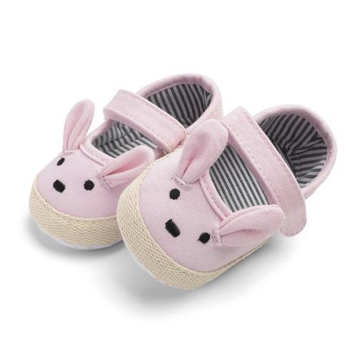 Poco conejito bebé niña zapatos bebé suave fondo niño