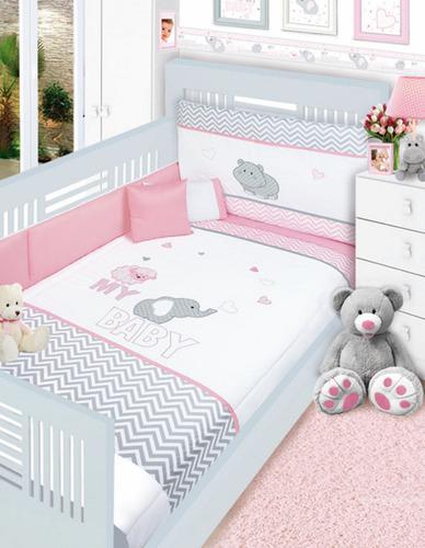 Set para cama cuna corral linea baby baby caramelo