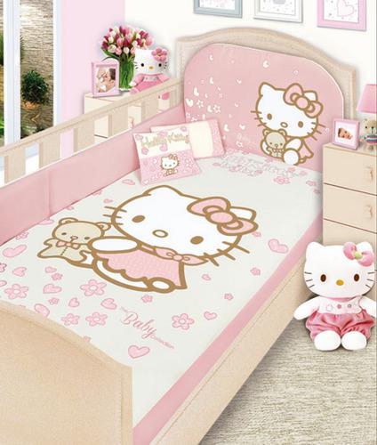 Set para cama cuna corral linea gold hello kitty