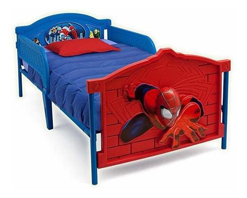 Spiderman araña base de cama infantil individual niño 1x2
