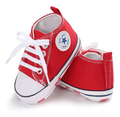 Suela suave antideslizante bebé zapatos de lona bebé