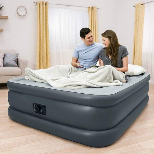 Colchon cama inflable doble altura queen intex durabeam 51cm