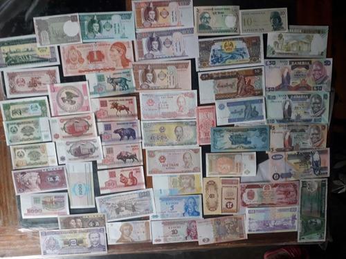 Coleccion de 50 billetes extranjeros nuevos