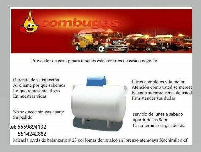 Gas lp para casa o negocio