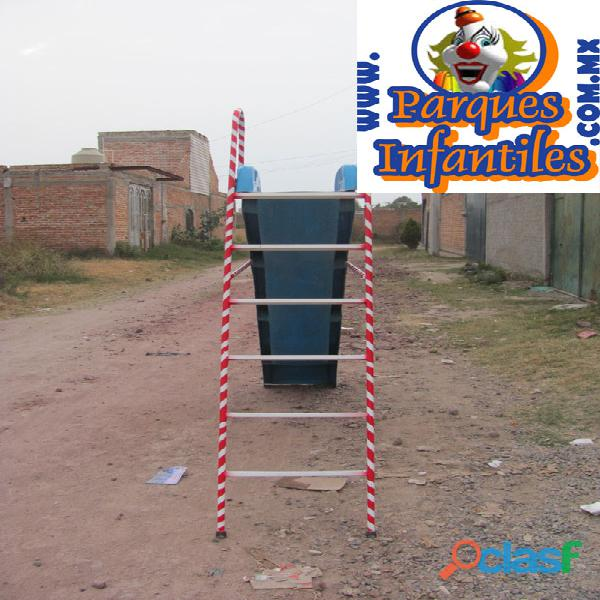 (no incluye escalera) resbaladeros o resbaladillas de 1.80 mts de altura x 3.00 mts de bajada