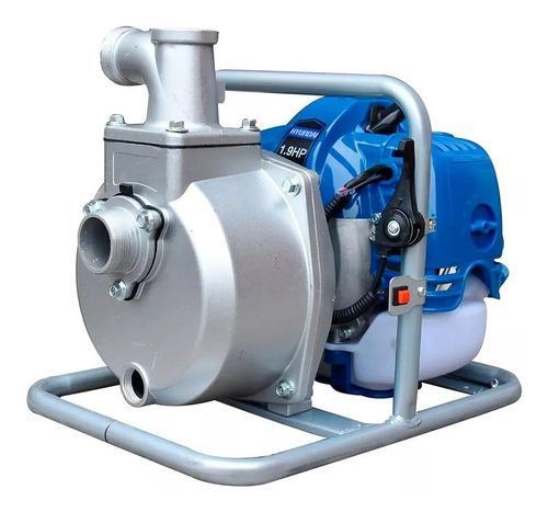 Bomba de agua a gasolina motobomba hyundai 1x1 pulg 2 hp