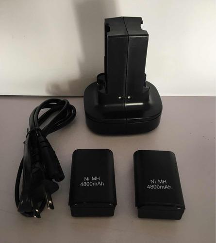 Kit carga rápida 2 baterías recargables xbox 360