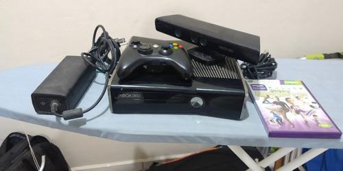Xbox 360 slim, 250gb, kinetc, 2 controles 4 juegos