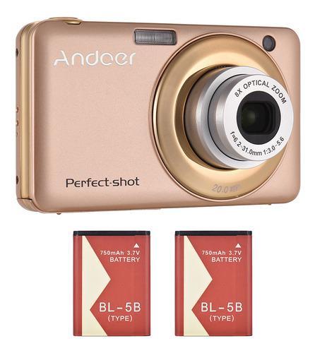 Andoer 20mp 720p hd cámara digital videocámara con 2pcs