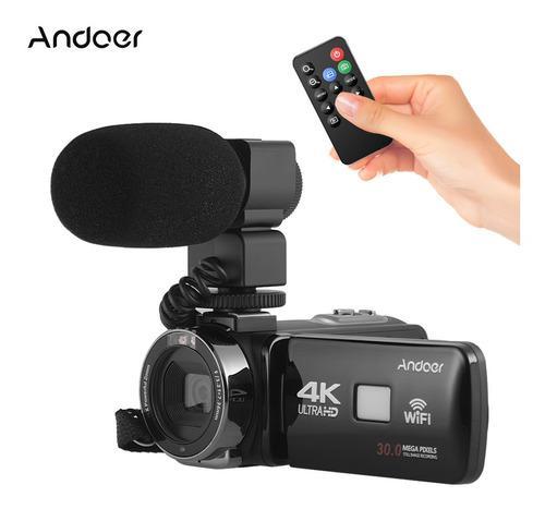 Andoer 4k ultra hd wifi cámara de video digital
