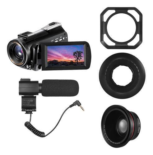 Cámara De Video Digital Andoer Ac3 4k Con Lente 0.39x