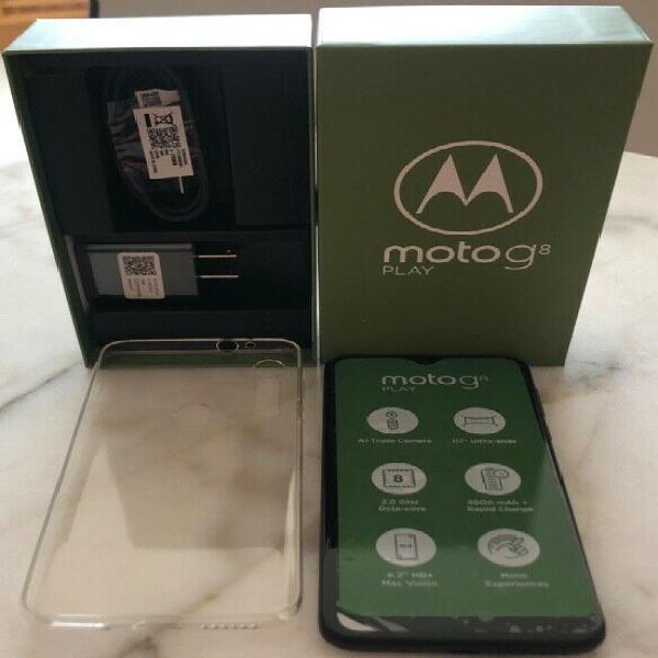 Motorola g8 play nuevo en caja! factura a mi nombre y 1 año