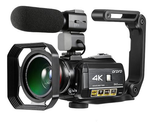 Ordro Ac3 4k Wifi Cámara De Video Digital Videocámara