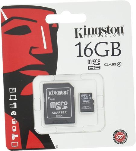 Tarjeta kingston micro sd 16gb con adaptador sdc4/16gb