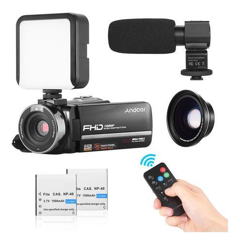 Video cámara digital andoer hdv-301ltrm 1080p fhd