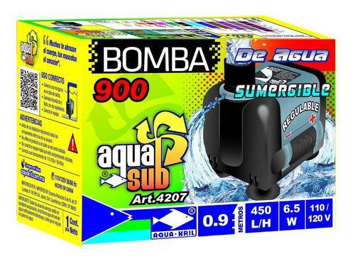 Bomba De Agua Sumergible Acuario Pecera Fuente 0.9 M 4207