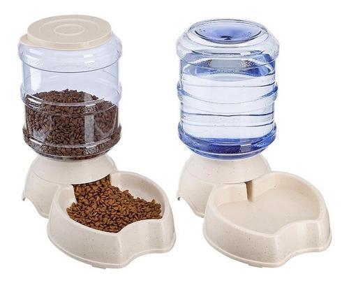Kit dispensador chico agua y croqueta perro gato