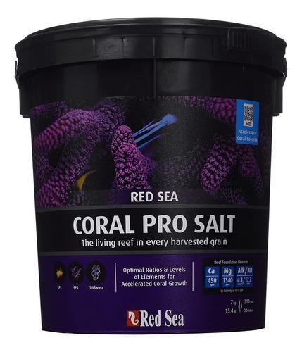 Sal para acuarios marinos red sea coral pro 7 kilos 55gal
