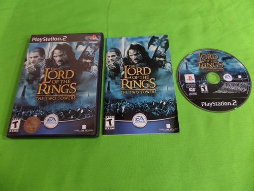 Video Juego Lord Of The Rings The Two Towers Ps2 Completo