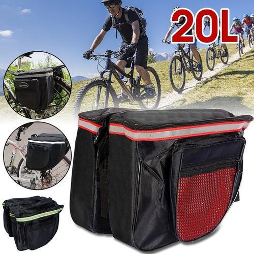 Bicicleta doble cremallera equipaje bolsa carretera montaña