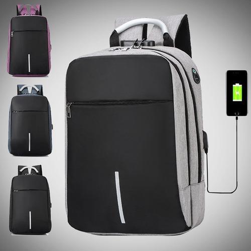 Mochila antirrobo bolsa de computadora de negocios carga usb