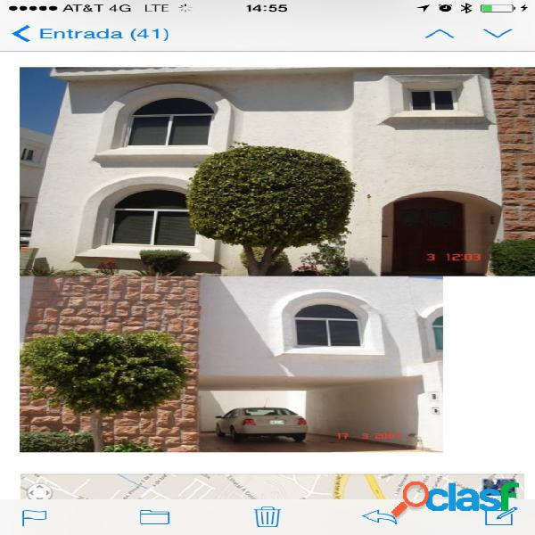 Casa sola residencial en renta en fraccionamiento jardines san diego, san pedro cholula