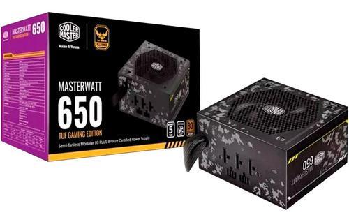 Fuente de poder pc gamer 650w cooler master tuf 80p bron /v