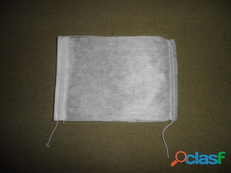 100 cubrebocas de pellon blanco sencillos 13.5x19