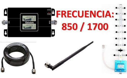 Antena amplificador señal celular telcel movistar 850/1700
