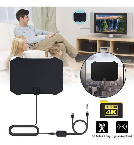 Antena de tv digital para interior hdtv amplificada con ampl