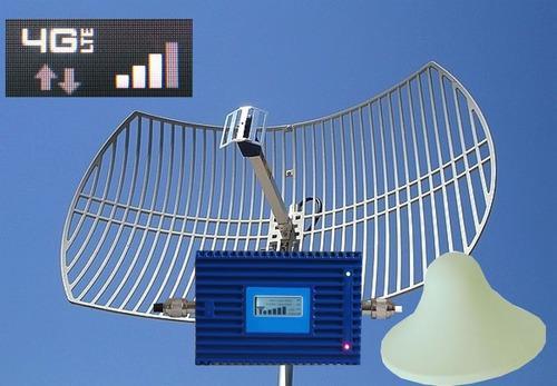 Antena parabólica y repetidora señal celular telcel 4g