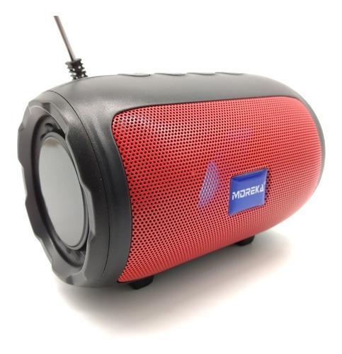 Bocina moreka portátil con luz led y antena radio fm ch07