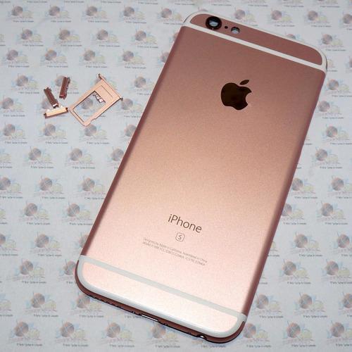 Tapa trasera original iphone 6s rosa + kit de antenas