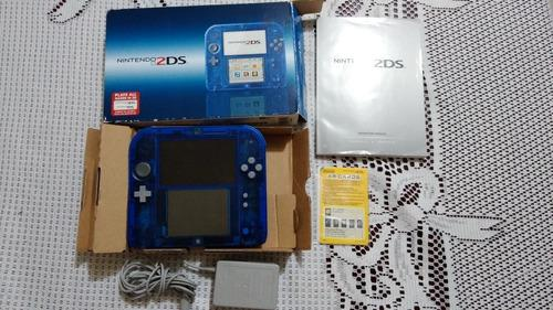 Nintendo 2ds azul transparente con juegos en memoria