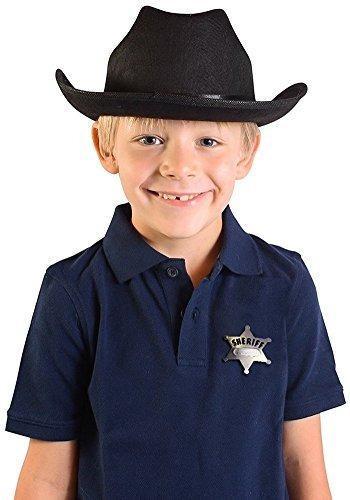 Niño s negro país vaca niño sombrero vaquero con insignia