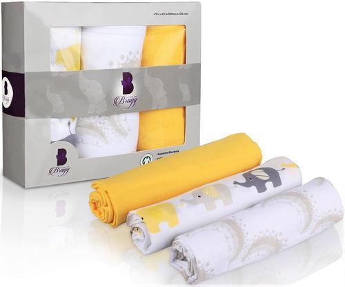 100 mantas de algodón orgánico de muselina para bebés