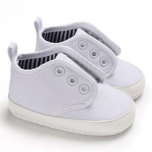 Bebé niños niñas cómodos zapatos de lona cordones nacido
