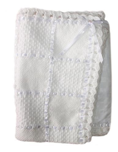 Hecho por grandma manta de bebé tejida hecha a mano con amo
