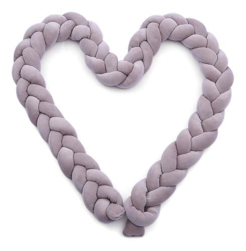 Parachoques de cuna para bebé nudo suave trenzado hecho a