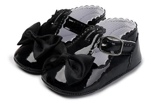 Zapatos de charol de 0-1 años de edad, suela blanda,