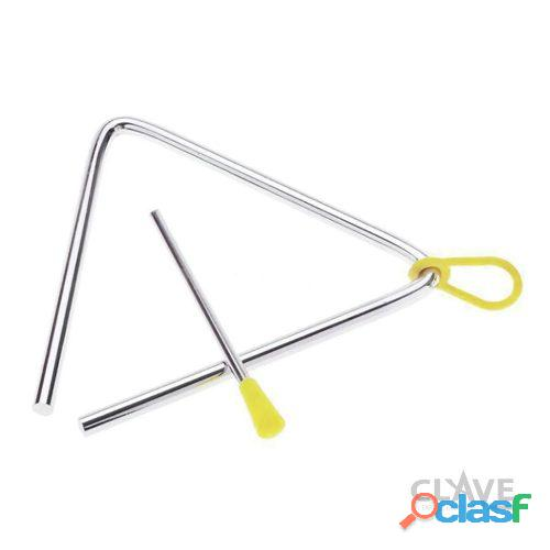 Triángulo acero inoxidable con golpeador