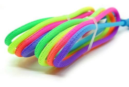 Cable arcoíris usb cable de carga rápida tipo c