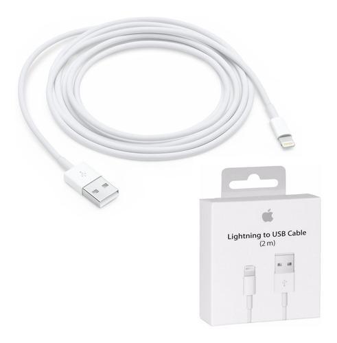Cable cargador lightning 2 mts iphone 5/6/7/8/x ipad orig