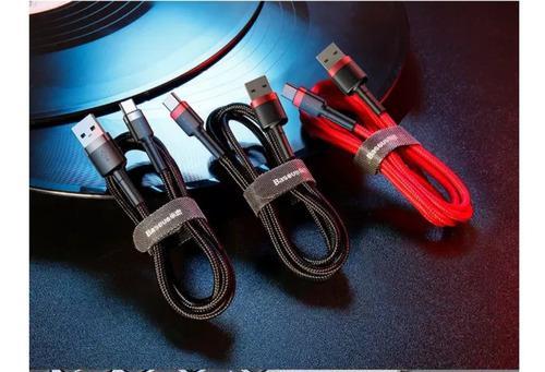Cable usb carga rápida tipo c baseus premium uso rudo