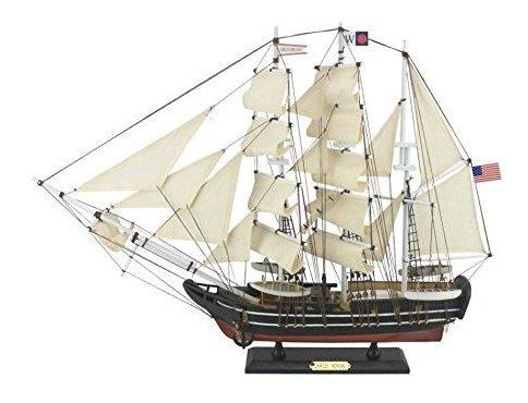 Hampton nautical wooden charles w morgan modelo whaling boat