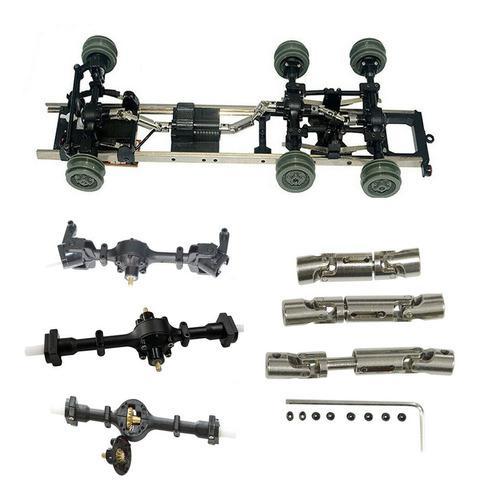 Metal engranaje robusto delantero +central+eje trasero con 1