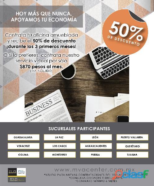 RENTA DE OFICINAS A BAJOS PRECIOS CON SERVICIOS INCLUIDOS !! segunda mano  Guadalajara (Jalisco)