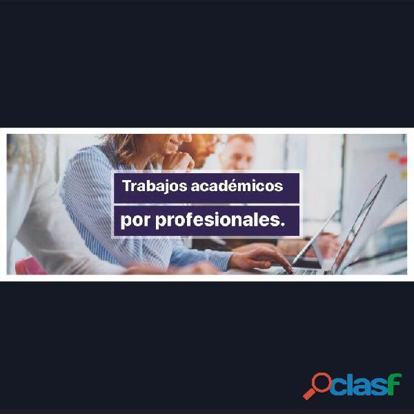 Tesis, disertación, redacción y todo tipo de trabajo escrito por profesionales