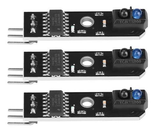 3 unids 1 canal de reflexión infrarroja sensor de