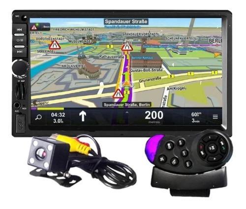 Auto estereo gps control volante 7inch usb sd mirror link